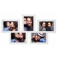 Cadre multi-photo blanc pour 5 photos 10 x 15 cm