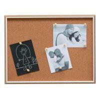 Lot 2 tableaux mémo liège bois et biseau blanc