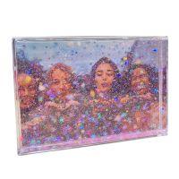 12 blocs acryliques confetti étoile rose 10x15 cm
