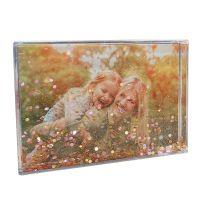 12 blocs acryliques paillettes or rose 10X15 cm