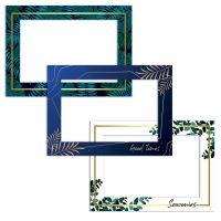 Lot 3 cadres magnétiques motif végétal photo 10 x 15 cm
